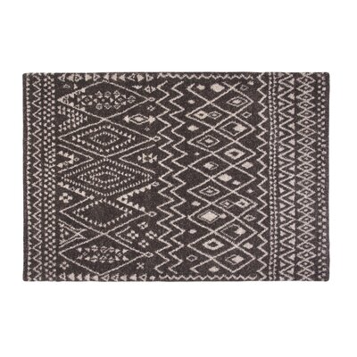 Devin Chocolate Area Rug Rug Size: 5'3
