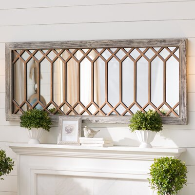 Rectangular Mounted Accent Wall Mirror