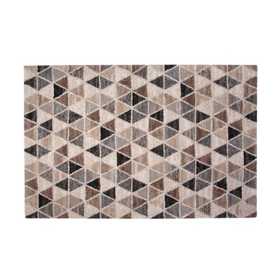 Devin Gray/Brown Area Rug Rug Size: 53 x 76