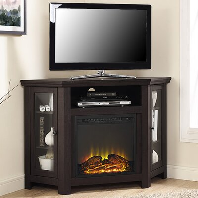 Rena Corner 48 TV Stand with Fireplace Color: Espresso