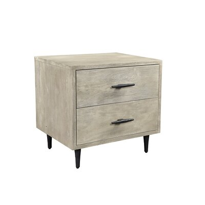 Montes 2 Drawer Night Stand Finish: Sandblast Gray