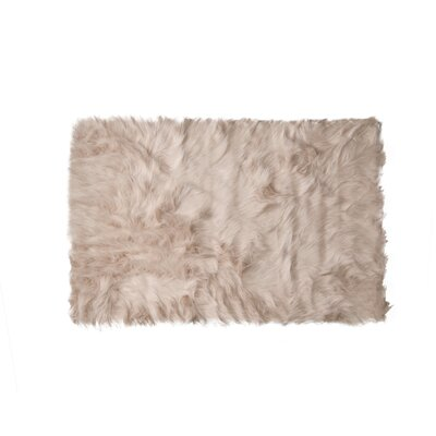 Shawnta Faux Sheepskin New Tan Area Rug