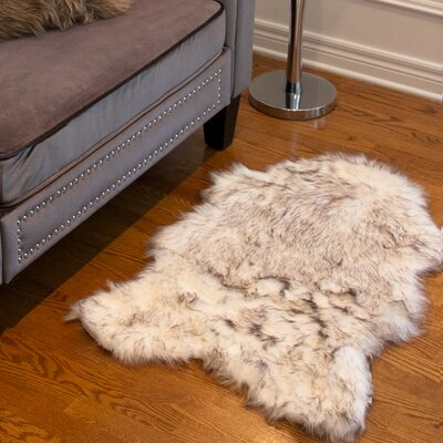 Shayne Faux Sheepskin Gradient Chocolate Area Rug