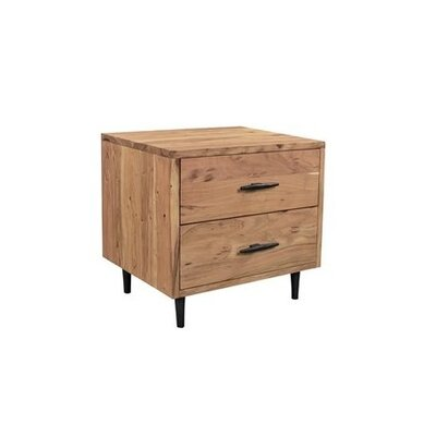 Montes 2 Drawer Night Stand Color: Natural