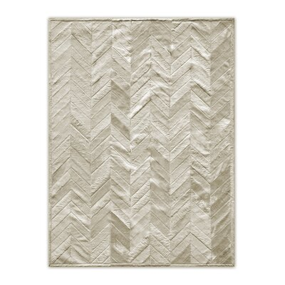 Josephina Stitch Hand-Woven Cowhide Parquet Natural Area Rug Rug Size: 5 x 8