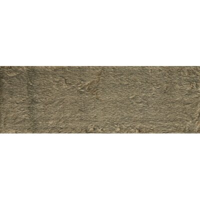 Ashleigh Faux Fur Beige/Black Area Rug Rug Size: Runner 26 x 76