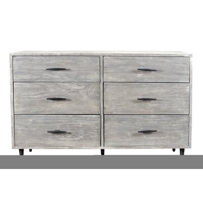 Montes 6 Drawer Double Dresser Color: Sandblast Gray