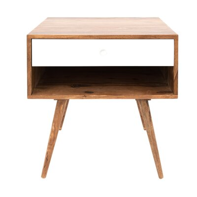 Hunter End Table Color: Natural/White