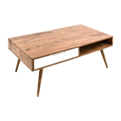 Hawkins Coffee Table Color: Natural/White
