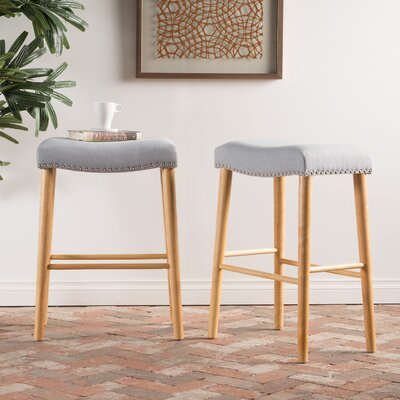 Bonita 30 Bar Stool Upholstery: Light Gray