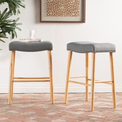 Bonita 30 Bar Stool Upholstery: Charcoal