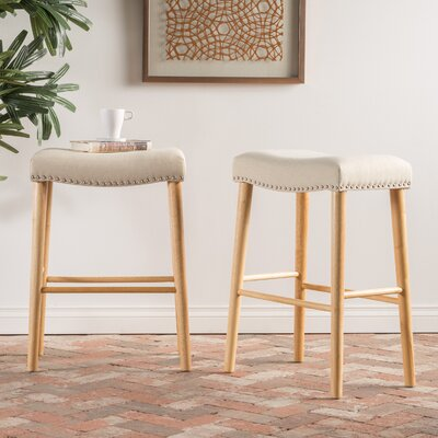 Bonita 30 Bar Stool Upholstery: Beige