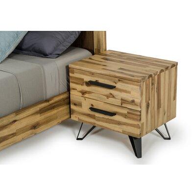 Rashida Light Wood 2 Drawer Nigthstand
