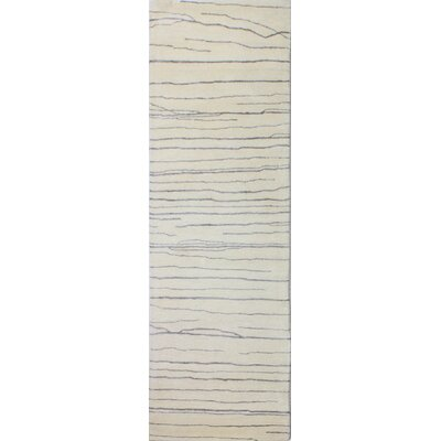 Jaqueline Hand-Tufted Ivory/Gray Area Rug Rug Size: Runner 26 x 8