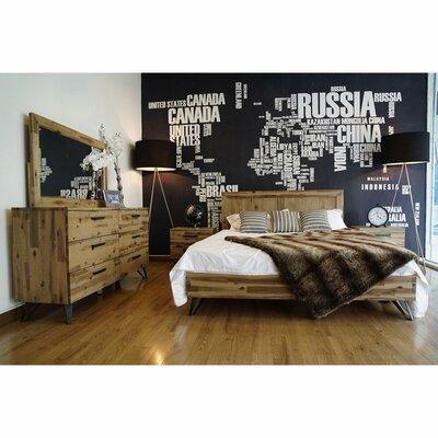Sofia Light Wood Platform 5 Piece Bedroom Set Bed Size: King