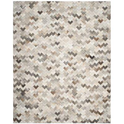 Stasia Hand-Woven Gray Area Rug Rug Size: Rectangle 8 x 10