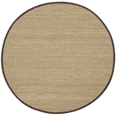Graciela Natural Area Rug Rug Size: Round 6 x 6