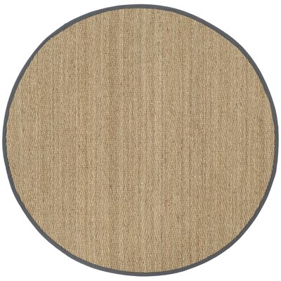 Felisha Natural Area Rug Rug Size: Round 6 x 6