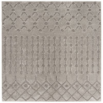 Champlain Gray Area Rug Rug Size: Rectangle 51 x 76