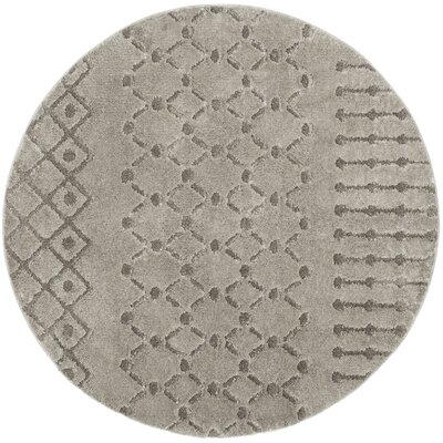 Champlain Gray Area Rug Rug Size: Round 67