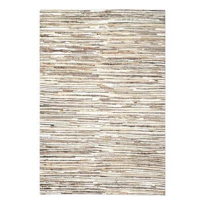 Macdonald Hand-Woven Ivory/Brown Area Rug Rug Size: 8 x 10