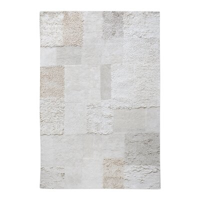 Kael Hand-Tufted Cotton Ecru Area Rug Rug Size: 5 x 8