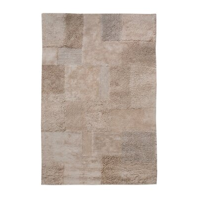 Kael Hand-Tufted Cotton Dark Beige Area Rug Rug Size: 8 x 10