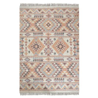 Gonzalez Hand-Woven Rust Orange Area Rug Rug Size: Rectangle 5 x 8