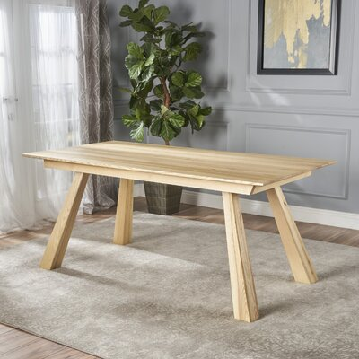 Meixell Wood Dining Table Color: Ash Wood
