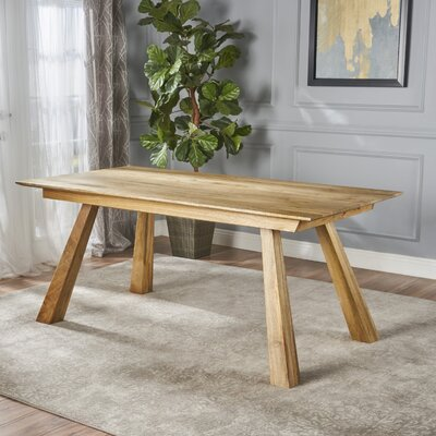 Meixell Wood Dining Table Color: Mango Wood