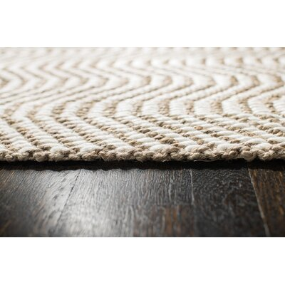 Halima Hand-Woven Tan/Ivory Area Rug Rug Size: Runner 26 x 8