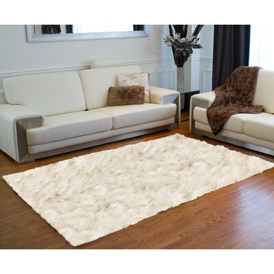 Shawnta Faux Sheepskin Gradient Brown Area Rug Rug Size: Rectangle 5 x 8