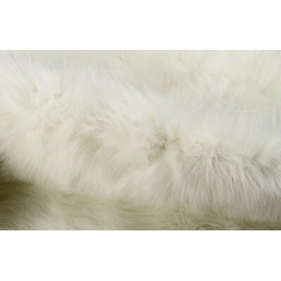Sheilah Faux Cowhide Polar Bear Area Rug Rug Size: Novelty 61 x 5
