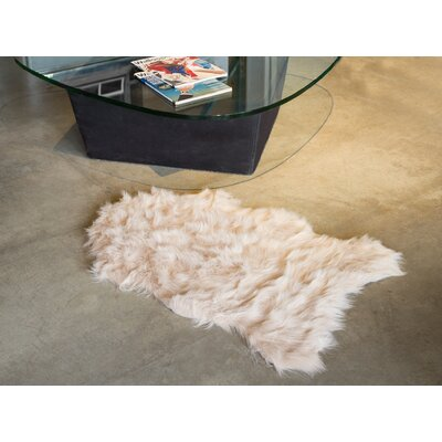 Shayne Faux Sheepskin New Tan Area Rug