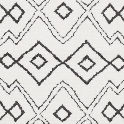 Rhodes Bohemian Ivory/Black Southwestern Area Rug Rug Size: Rectangle 67 x 96