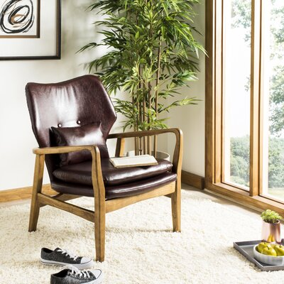 Templeton Armchair Upholstery: Brown
