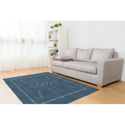 Rogers Kilim Blue Area Rug Rug Size: 3 x 5