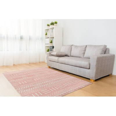 Botti Pink Area Rug Rug Size: Rectangle 5 x 7