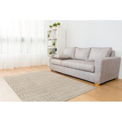 Grosso Cream Area Rug Rug Size: Rectangle 5 x 7