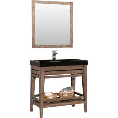 Madalyn 48 Single Bathroom Vanity with Mirror Base Finish: Sedona