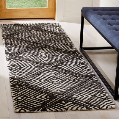 Sloan Hand-Tufted Wool Ivory Area Rug Rug Size: Rectangle 26 x 8