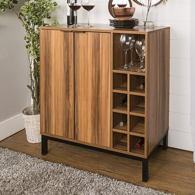 Boda Bar Cabinet with Wine Storage Color: Brown