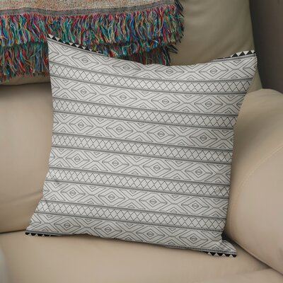 Barbosa Burlap Throw Pillow Size: 16 H x 16 W x 5 D, Color: Black/ Ivory