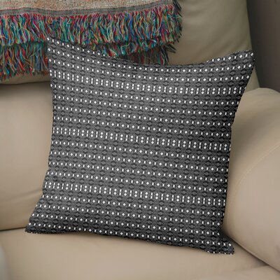 Holyoke Throw Pillow Color: White/Black, Size: 16 H x 16 W