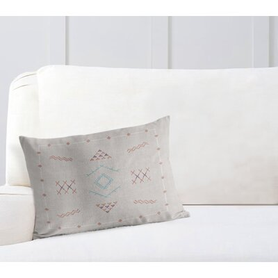 Rogers Lumbar Pillow Color: Grey, Size: 18 x 24