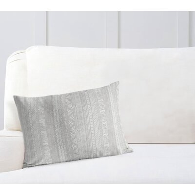 Couturier Rectangular Lumbar Pillow Color: Grey, Size: 12 H x 16 W