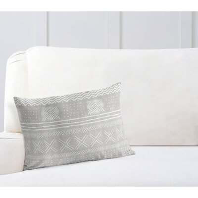 Couturier Geometric Rectangular Lumbar Pillow Color: Grey, Size: 12 H x 16 W