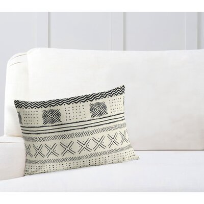 Couturier Geometric Rectangular Lumbar Pillow Color: Ivory, Size: 12 H x 16 W