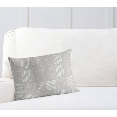 Couturier Lumbar Pillow with Zipper Color: Grey, Size: 12 H x 16 W