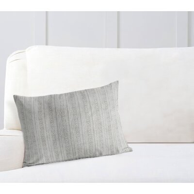 Couturier Rectangular Lumbar Pillow with Zipper Color: Grey, Size: 12 H x 16 W